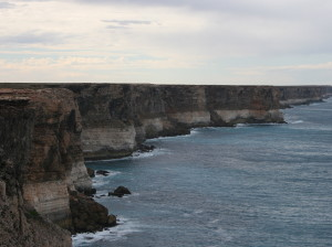 The spectacular cliffs of the Great Australian Bight.
