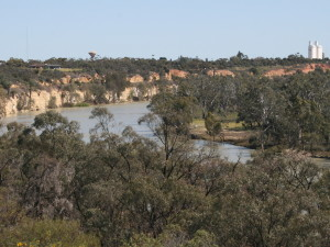 Holder Bend, the River Murray at Waikerie.