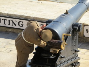 Preparing the cannon...